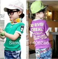 free shipping  2013 new best quality summer fashion children wear cotton children short T-shirt