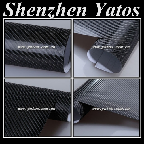 Carbon Fiber Vinyl Film Wrap 4D/Roll Wrap Sticker /Carbon Fibre vinyl wrap texture 4D self adhesive(China (Mainland))