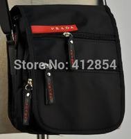 Men's black strap canvas wild small Man shouder  small bag A5