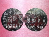 Nail Art Stamp stamping image plates with  flowers 7cm 430pcs/lot wholesale