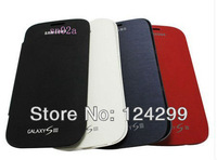 Free Shipping Luxury Flip Leather PU Case skin Back Cover Battery Housing Case For Samsung Galaxy S3 SIII GT i9300
