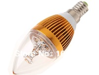 3X Wholesale 6W DIMMABLE E14 LED bulb candle light gold/silver shell Cool/ Warm White Spot Light,spotlight forhome