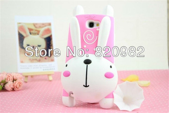 Cute 3D Cartoon Rabbit Speaker Silicone Soft Case For Samsung Galaxy Note II N7100