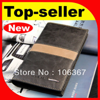 fashion leather clutch wallet for men with extra capacity pocket