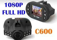 "FreeShipping Full HD 1080P Novatek Chip C600 Smallest Mini Car DVR Recorder With G-sensor IR 12LED Night Vision 1.5"" TFT"