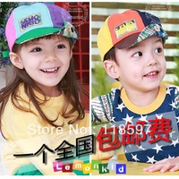 Lemonkid 2013 spring summber baby hat cap colorful child roll up hem cap school students fashion hat
