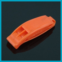New Integration Design Flex Plastic Double-frequency Whistle Orange Lightweight Free Shipping