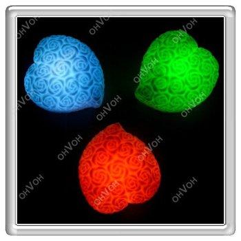 S5V Free Shipping Retailer Flashing Led Lighting,Christmas Day Festival Heart Flower LED Light for Party