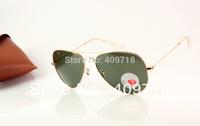 Best Quality Brand Sunglass Fashion Sunglass Men's/Woman's Designer 3025-001/58 Metal Gold Sunglass Green Lens 58mm Polarized