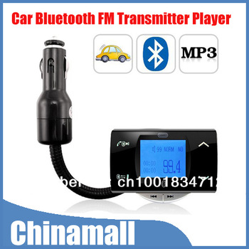 Free Shipping & Drop Shipment Bluetooth Car Kit Vehicle MP3 Player FM Transmitter Modulator + Remote Control USB/SD/MMC Support