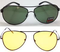 [Featured]Wholesale-Polaroid Men Eyeglasses Eyeware for Day/Night Vision Green/Brown/Yellow Yurt 10pcs/lot 20130227-0155