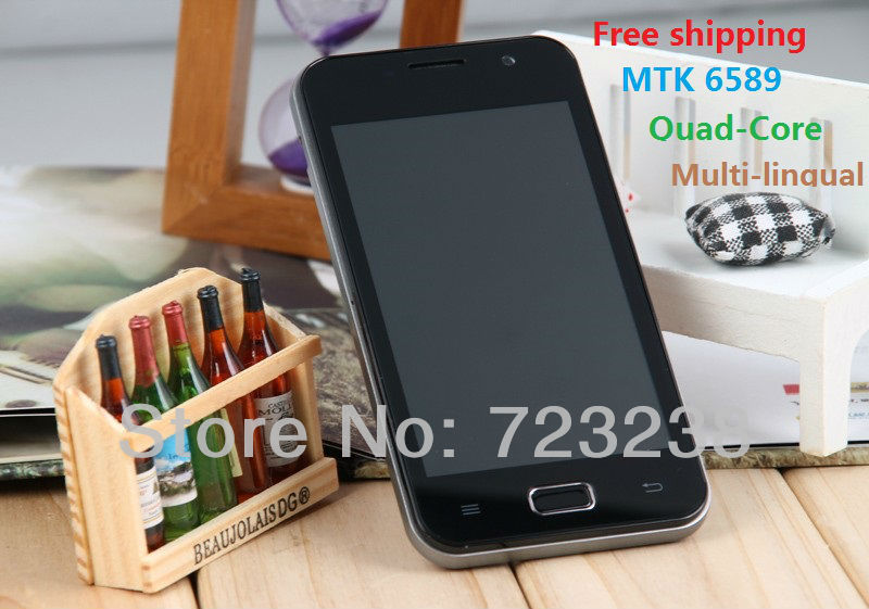 New Arrival Original VSUN I9 Quad-Core MTK6589 Android 4.0 IPS 8MP 4G ROM Russia's multi-lingual 3G GPS Phones Free shipping(China (Mainland))