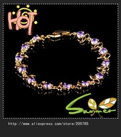 2013 zircon  bracelet bangle  bracelets  lady's 18k yellow Gold Filled Bracelets gift 1pc Freeshipping