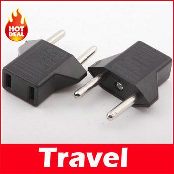US to EU AC Power Plug Travel Converter Adapter