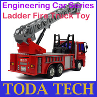 Engineering Car Series Ladder Fire Truck Toy D02-1 for Child Green No Odor Harmless Best Price Free Shipping
