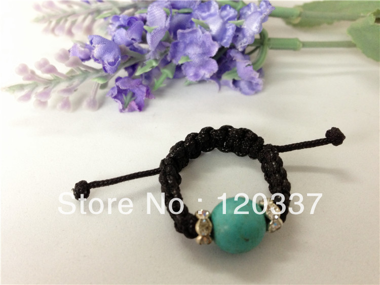 braided rope finger ring faux stoned fashion jewelry costume finger ring rose stretchy Min. order $ 15 for assorted styles(China (Mainland))