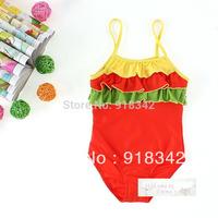 Wholesale! Free Shipping! Kids Swimwear Swimsuit Bikini Bather Tankini  Surfing Costume Girls