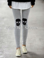 2013 Hot Sale  New Fashion Print Applique Skeleton Women Sexy Style Soft Stretchy Leggings Pants