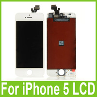 For iPhone 5 5G Display + Digitizer LCD Screen Touch Full Front  Assembly White and Black 5Pcs/lot Free DHL