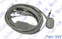 Hellige Cardiosmart 10 leads EKG cable ,  banana, connector: DB15, high quality , retail or wholesale