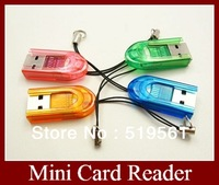 20pcs Portable TF Card Reader Good Quality Mini Micro SD Card Readers By China Post Free Shipping