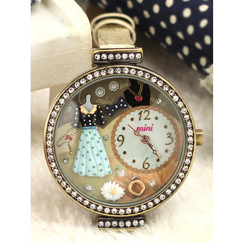671Authentic Korean mini watch Japanese handmade polymer clay watches fashion watches diamond table Student princess dress