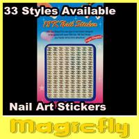 [18KTZ-001]10Pcs/Lot  Brand Name 18K 3D Metal Nail Art Sticker / 3D nail sticker / Nail Decals+Free Shipping