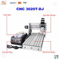 Free shipping 220V mini desktop engraving machine cnc 3020T-DJ , upgrade from cnc 3020 t cnc router CNC ENGRAVER