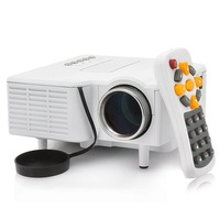 Mini LED projector Native 320*240 AV LCD Digital Projector VGA A/V USB & SD free shipping