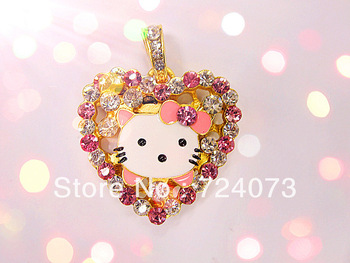 Crystal KT cat heart USB Flash Drive  (colorful,4G,8G,16G,lovely gift)