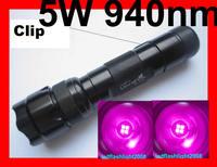 Ultrafire 502B 5W 940nm Infrared Radiation IR LED Clip Aluminum Flashlight Torch