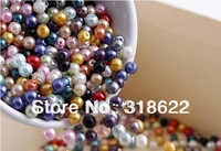 Wholesale! 4mm/6mm/8mm/10mm Multicolor Glass Beads Pearl Round Loose Spacer Bead (1000pcs/set) Free shipping
