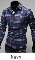 Free shipping,2013 new arrival,long sleeve plaid shirts for men,turn-down collar shirt,fashion slim style