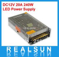 12V 20A 240W Switching led Power Supply,100~240V AC input 12V DC output
