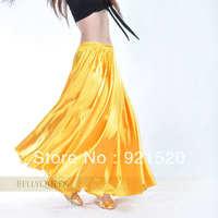 NEW STYLE 14 color Shining Satin Long Skirt Swing Skirt Belly Dance Costumes