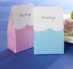 Free shipping 100pcs Pink Lovely Favor Bag/Box Wedding Candy Box Bridal Favor Shower Party Decor Gift Candy Boxes(China (Mainland))