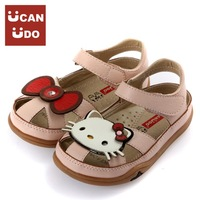 2013 fashion girl  childern sandals summer cartoon princess shoes hello kitty
