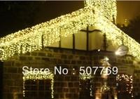 8m*0.65m 192LED  light flashing lane LED String lamps curtain icicle Christmas home garden festival lights EU UK US AU plug