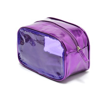 New arrivel elegant purple fashion brand cosmetic bag ,storage bag 80g free shipping