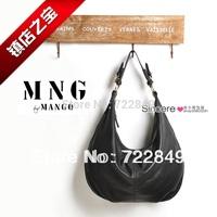 Free Shipping! 2014 women's fashion simple MNG shoulder bag Messenger bag dual-use matte leather shoulder bag man go