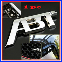Universal Type Car Front Emblems ABT LOGO Car Flag For All The Cars Installed In The Racing Grills Free Shipping !