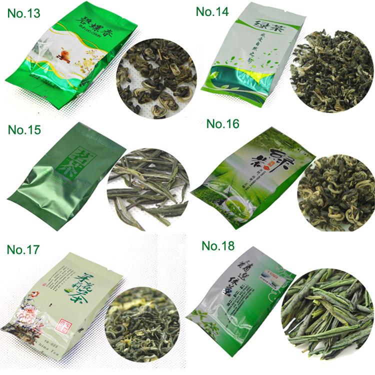 28 Different Flavors Famous Tea including Black Green White Yellow Jasmine Tea Puerh Oolong Tieguanyin Dahongpao
