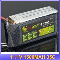 Lion 11.1V 1500MAH 35C 3S Li-polymer Lipo Battery Akku+free shipping
