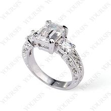 Fashion Fashion Style Silver Color White GP Austria  Crystal Simulation of diamond Wedding Ring  R220W1