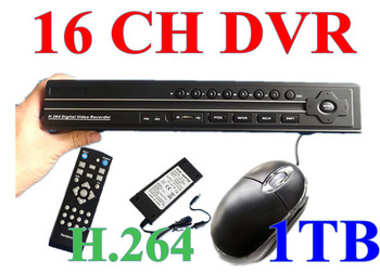 16 CH Channel 1TB (1000GB) Hard Drive CCTV H.264 Net DVR Standalone HomeSecurity System Real Time H038