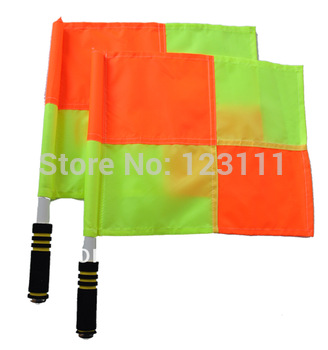 Sports Football Soccer training linesman referee flags Signal flags set neon checker,referee equipment 2/set,30x40x45cm