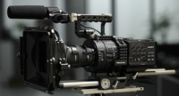 New Arrival wholesale Movcam Fs700 cage in black or silver+Follow focus+Mattebox
