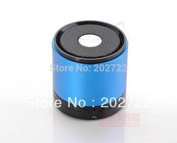 Wholesale -60PCS  metal Portable mini speaker box wireless Bluetooth TF Card Loudspeaker For iphone MP4 3 music player