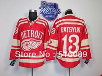 Free Shipping #13 Pavel Datsyuk 2014 Winter Classic Ice Hockey Jersey , Embroidery Logos Men's Hockey Jersey