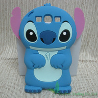 Free Shipping 3D Cute Cartoon Lilo Stich Boy Silicone Rubber Soft Case Back Cover For Samsung Galaxy SIII S3 I9300